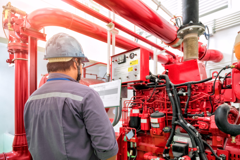 AIE Fire Sprinkler Inspection (shutterstock)